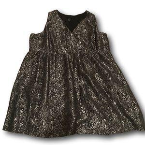 Lane Bryant Gorgeous Silver & Black Cocktail Dress